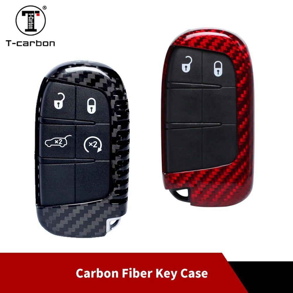 Carbon Fiber Smart Key Case Holder Shell For Jeep Chrysler Dodge Car