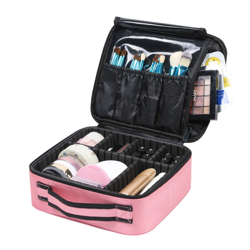 New Makeup Case Professional Beauty Brush Women Cosmetic Suitcase Waterproof Make Up Organizer Travel Storage Bags For Manicure