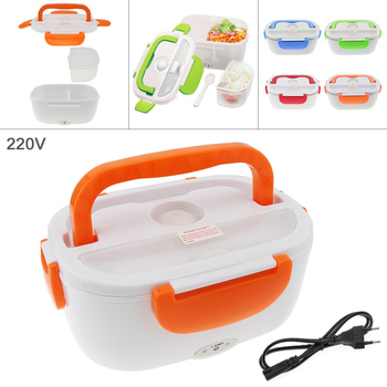 цена на New 220V 1.5L One-piece Type Portable Food Warmer Heating Keeping Electric Lunch Box with Spoon / EU Charging Line