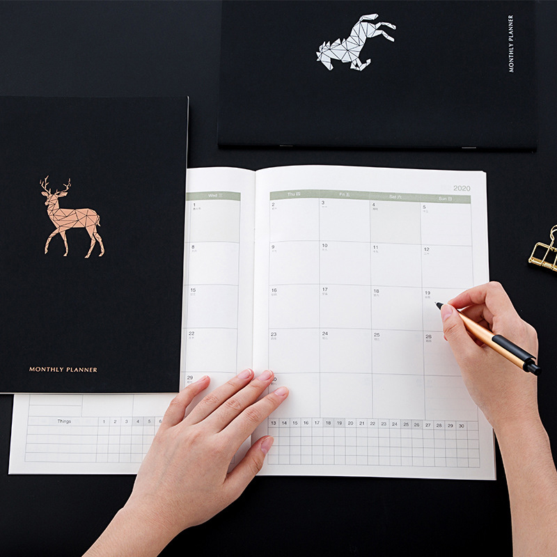2021 planejador a4 agenda caderno diário semanal mensal diário diário diário organizador diário 365 dias plano livro escola material de escritório papelaria presente