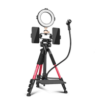 Professional Live Stream Phone Tripod with Ring Light Phone Holder Microphone Clip For Youtube TikTok Vlogging Camera Video Live