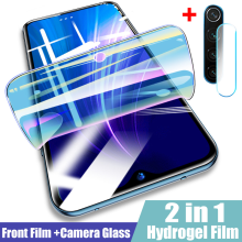 2 in 1 Camera Lens Screen Protector For Xiaomi Redmi Note 8 7 6 5 Pro 8T Hydrogel Film For Redmi 6A 7 7A 8 8A K20 Pro Soft Film(China)