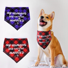 Dogs Cotton Collar Bandanas Puppy Cats Scarfs With Printed Letter My Humans Are Getting Married Wedding Decoration Accessory