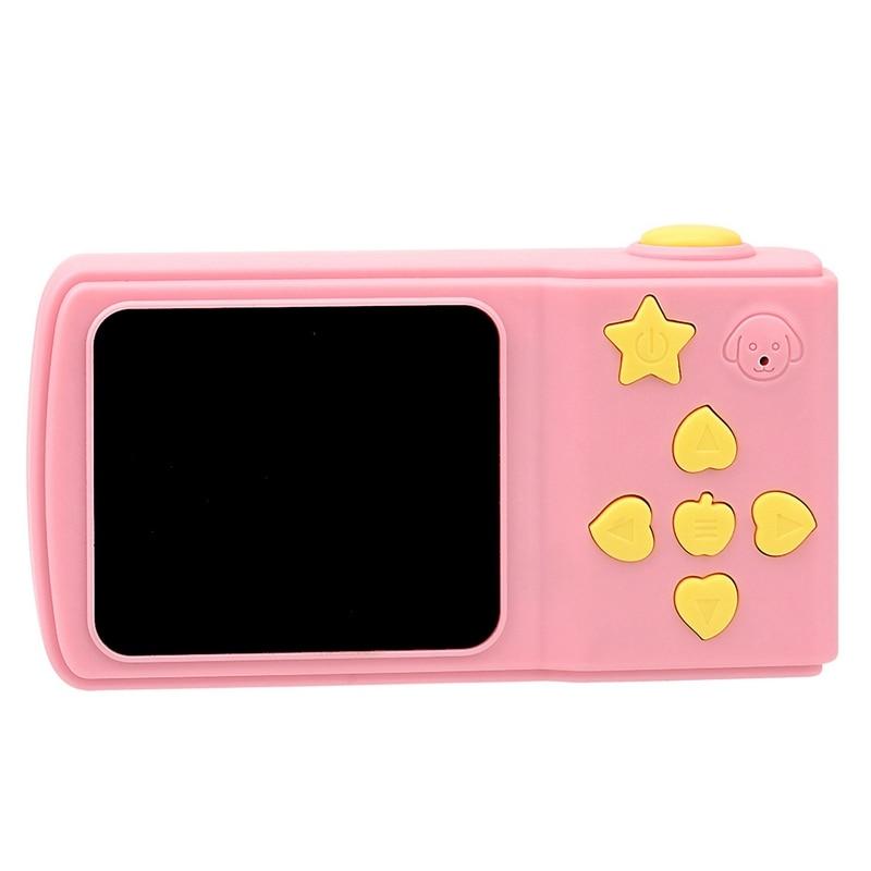 Hot-Children'S Mini Digital Camera 2 Inch Cartoon Cute Camera Toys Children Birthday Gift Toddler Toys Camera-Pink