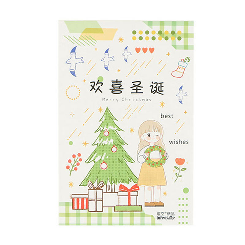 30 Pcs Happy Christmas Postcard Paper Greeting Card Christmas New Year Card Birthday Message Card Gift Thanks Cards Cards Invitations Aliexpress