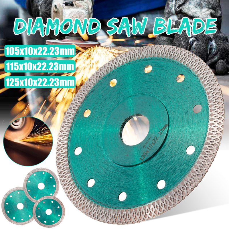 Green 105/115/125mm Hot Pressed Sintered Mesh Turbo Diamond Saw Blade Cutting Disc Diamond Wheel For Porcelain Tile Ceramic