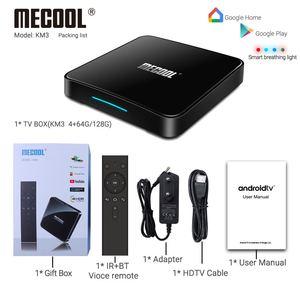 Image 5 - Android 10.0 Amlogic S905X2 ses kontrolü akıllı TV kutusu dört çekirdekli 4GB/64GB Set üstü kutusu 2.4G & 5G Wifi 4K medya oynatıcı Mecool KM3