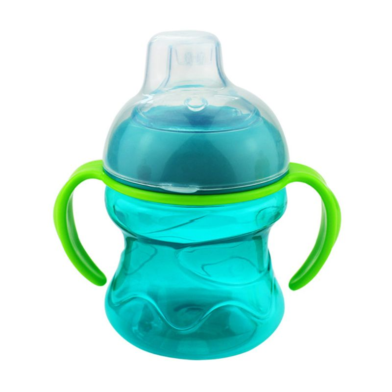 200ML Baby Feeding Bottle Cups Handle Leak Proof Toddler Weaning Drinking Bottle