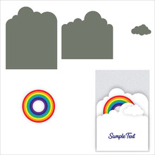 Naifumodo Rainbow Cloud Metal Cutting Dies for Card Making Scrapbooking Embossing Cuts Stencil Craft New 2019