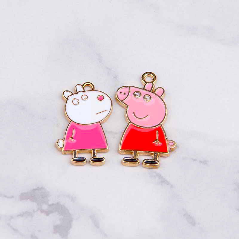 10pcs   Pig Charms Enamel Charm For Jewelry Making And Crafting Charm Fashion Pendant Cartoon Charm   Jewelry Findings