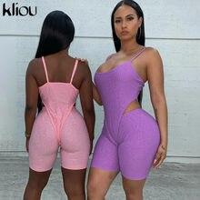 Kliou dres fitness damski zestaw dwuczęściowy cekiny skinny camisole body + spodenki dla motocyklisty sportowy moda casual kobiece stroje