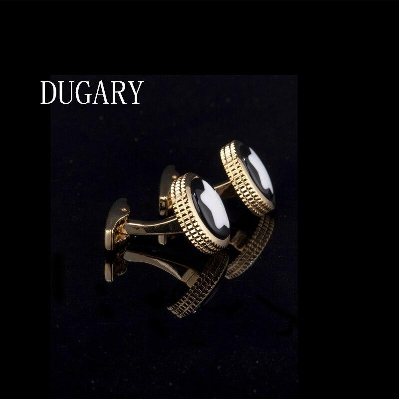 DUGARY Luxury shirt cufflinks for men's Brand cuff buttons cuff links High Quality round wedding abotoaduras Jewelry gemelos