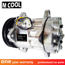 for HIGH QUALITY 7H15 AC COMPRESSOR ASSY FOR VOLVO TRUCK 709 for volvo car 7h15 air conditioner compressor pump with pulley 11104419 11412632 15082742