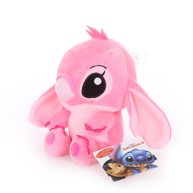 20cm Disney Lilo & Stitch Couple Models Cartoon Stuffed Plush Dolls  Anime Plush Baby Toys Pendant Toys Girl Kids Birthday Gift 6
