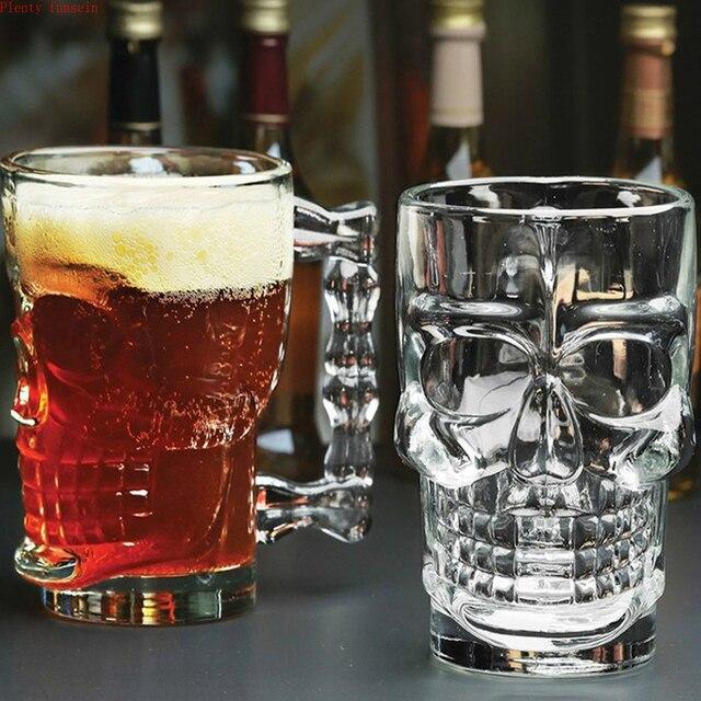 Классический пиратский Партнер, пивная чашка, 500 мл, Хрустальное стекло, креативный череп, кость для лица, с ручкой, питьевая вина, водка, неза...