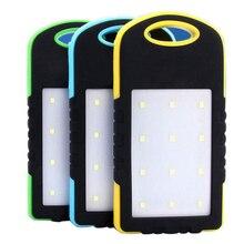 10000mAh banco de energía Solar impermeable Cargador Solar Dual USB cargador externo Powerbank para Xiaomi huawei iPhone 7 8 Samsung