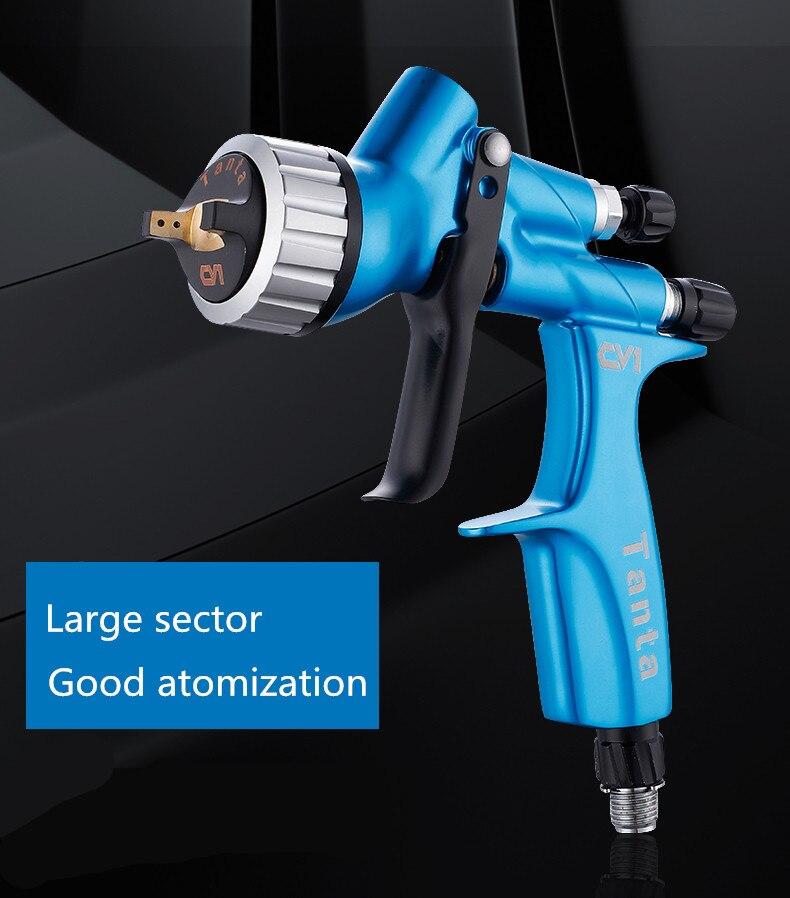 Pistola de pulverizaci/ón CV1 de 1,3 mm HVLP sin aire para pintura de coche aer/ógrafo herramienta a base de agua de alta calidad