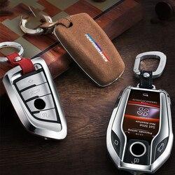 Airspeed Car Key Case Cover Key Shell for BMW F22 F30 F36 F10 F13 F01 F25 F26 F15 F16 F48 F39 G30 G11 G05 G01 G02 Accessories w Etui na kluczyki samochodowe od Samochody i motocykle na