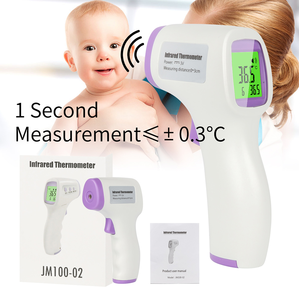 IR Infrared Forehead Digital Non-contact Body Temperature Measurement Body Digital Infrared Adult LCD Ear Termometro Infrarojo