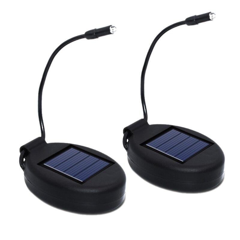 2Pcs Solar Light Outdoor Waterproof Solar Lamp Pot Lights Beautiful Lighting For Garden Flower Lawn Led Lamps