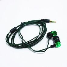 4 Colors Headset Earphone Bass MP3 Wiring Cloth Rope Headphones Fashion Wholesale