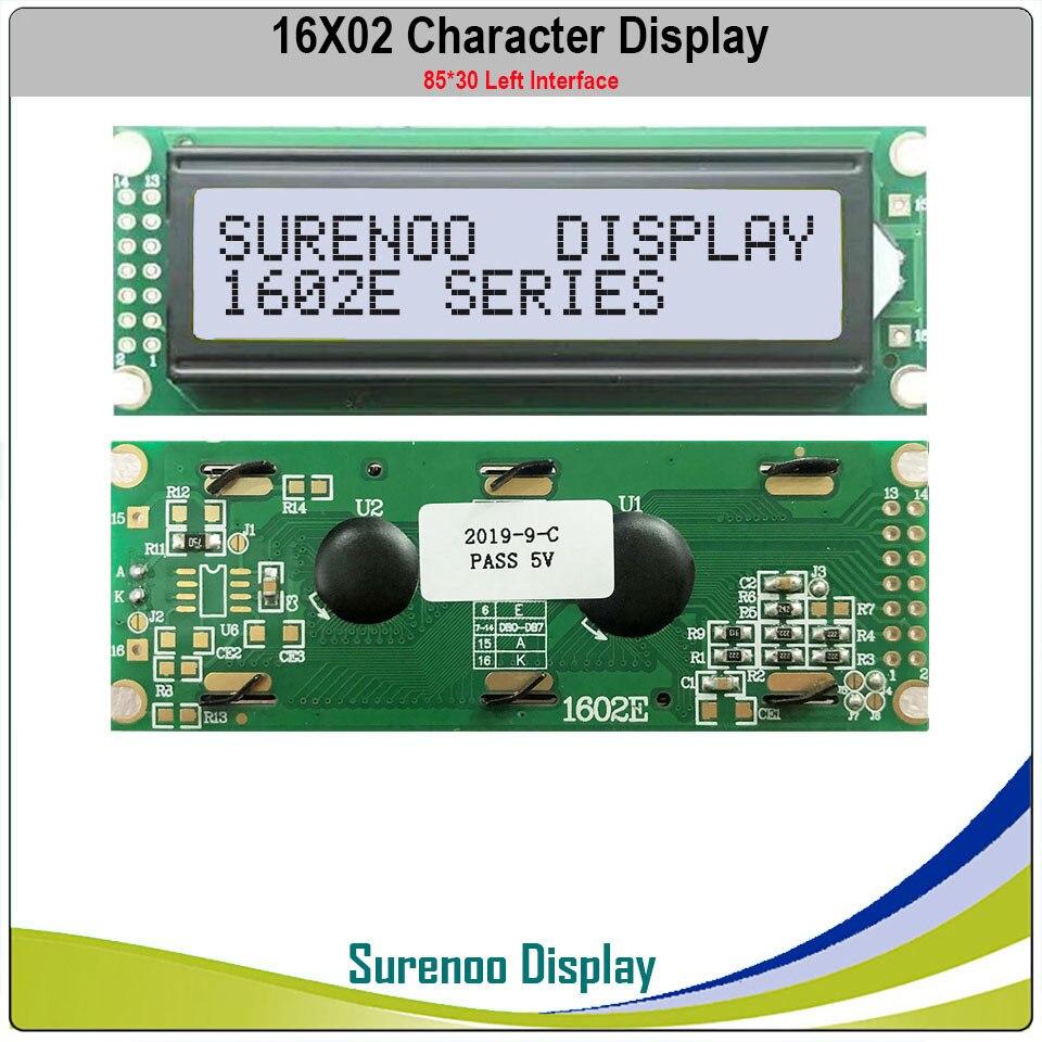 Левый интерфейс 162 16X2 1602 символьный ЖК-модуль ЖК-дисплей LCM желтый зеленый синий светодиодный с подсветкой