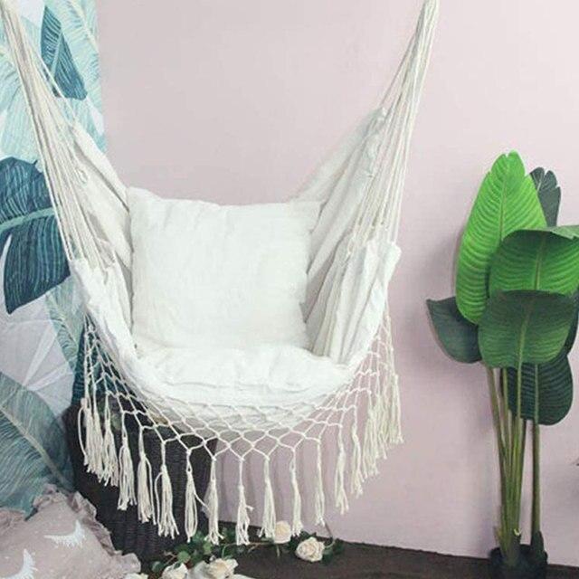 Macrame Hanging Porch Swing Hammock Chair  4