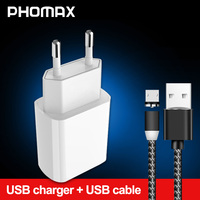 PHOMAX  USB Charger 3.0 18 W Fast phone Charger for iPhone X xs 8 7 iPad Samsung Galaxy s8 s9 Galaxy HTC Xiaomi mi8 Huawei Nexus