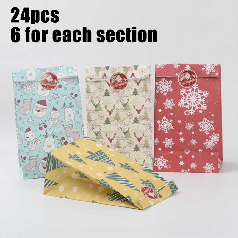 24 * крафт бумажные пакеты + 1 наклейка квадратная основа маслостойкие Упаковочные