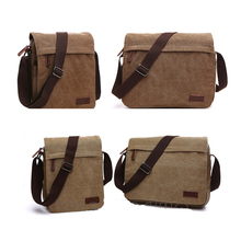 Askılı çanta tuval Crossbody omuz çantaları Vintage Satchel seyahat çalışması için iş