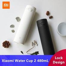 Xiaomi termo portátil de acero inoxidable 316L para mantener el calor/frío, taza de agua de 2 Generación, 480mL, con cierre, apertura manual única