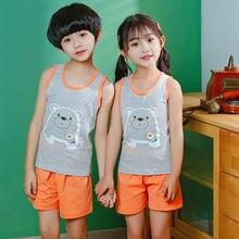 Летние детские пижамы для мальчиков и девочек хлопковая одежда
