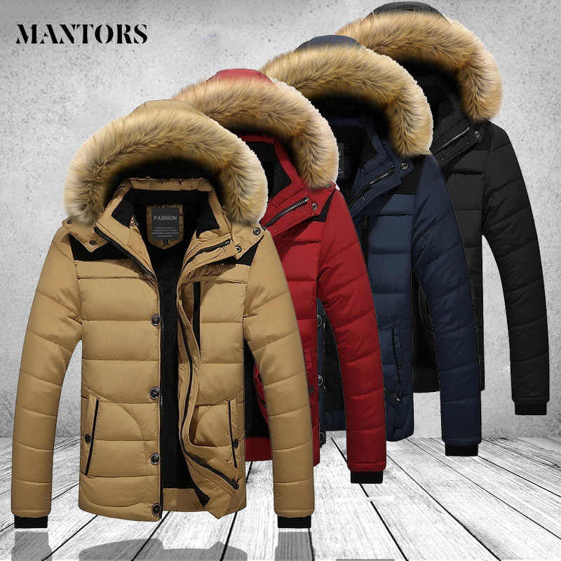 Winter Jacket Men Windbreaker New Fashion Casual Coat Fur Hood Thick Warm Windproof Down Jacket Male Parkas Outerwear Plus Size
