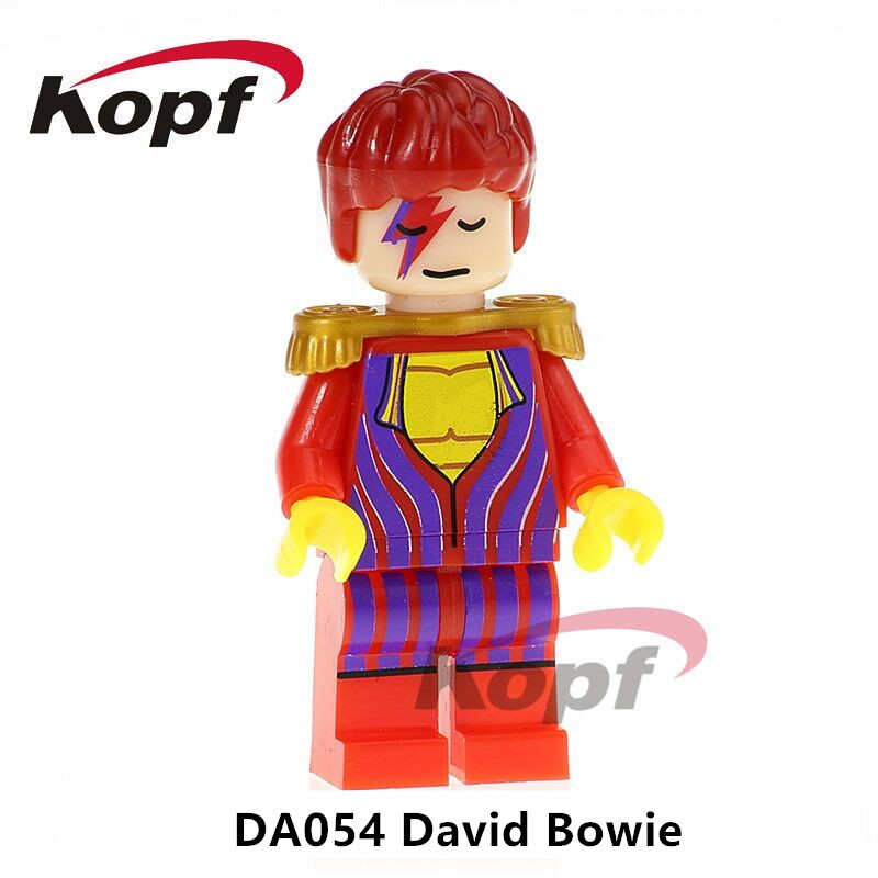 Single Sale Building Blocks Super Heroes Blade David Bowie Bob Ross Plastic Model Gift Figures For Children Learning Toys DA054