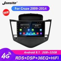 Jansite 9 Android автомобильное радио для Chevrolet Cruze 2009 2014 RDS DSP плеер с сенсорным экраном R9 R5 мультимедийный видео плеер с CANBUS