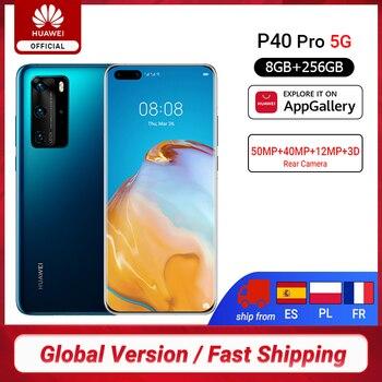 DHL Free Ship Global Version Huawei P40 Pro 5G 8GB 256GB Kirin 990 Smartphone 50MP Quad Cameras 6.58'' 90Hz 40W SuperCharge