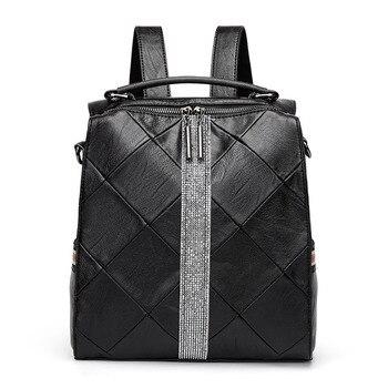 Small Backpack Women Soft Leather Mochila Designer Backpacks Women High Quality Brand Luxury School Bags for Teenage Girls цена 2017