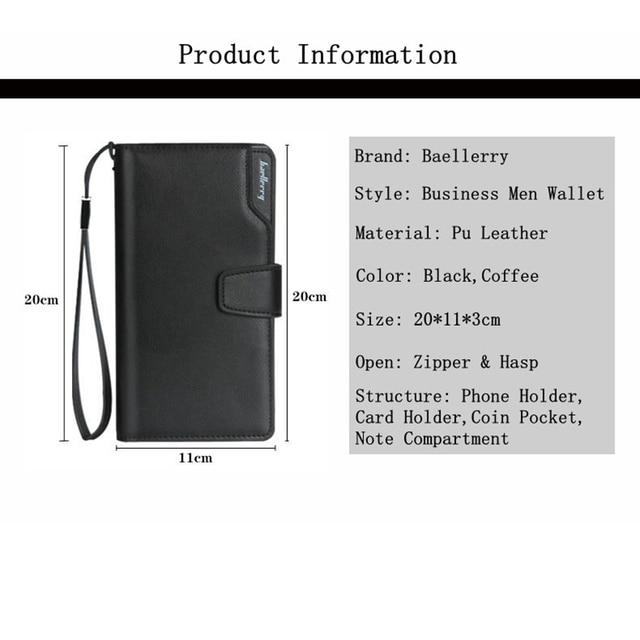 Baellerry Long Wallet Men Zipper Purse for Men Coin Purses Clutch Male Wallets portefeuille homme MWS002-4 5