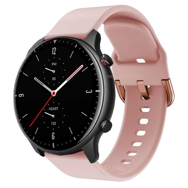 FIFATA Smart Watch Band For Amazfit GTR 2 Silicone Wrist Strap For Xiaomi Huami Amazfit GTR 42 47mm GTR2 GTS2 Bip U/S Bracelet 5