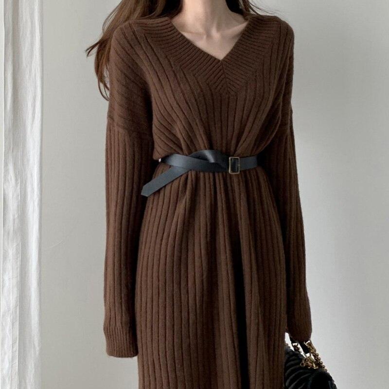 Цельное женское платье большого размера новое осенне зимнее