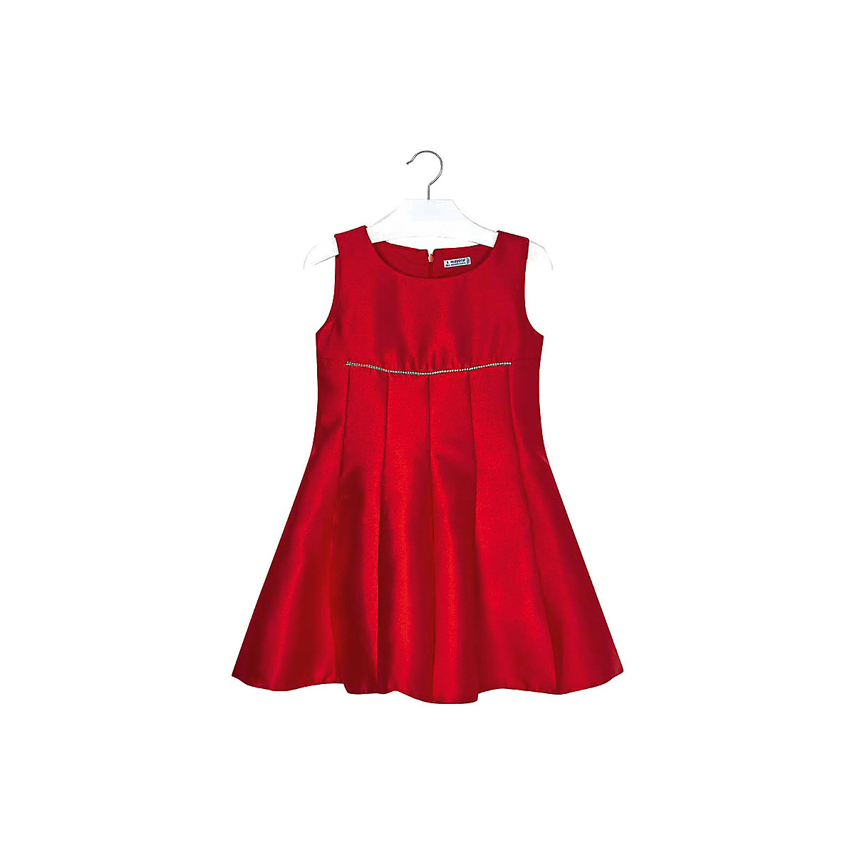 MAYORAL Dresses 10678828 Girl Children Party fitted pleated skirt Red Polyester Preppy Style Solid Knee-Length Sleeveless Sleeve navy velvet mini pleated skirt