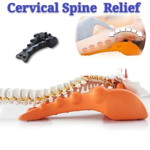 vertebra cervical correta tracao lombar coluna vertebral reta relaxar costas placa de massagem cinta para
