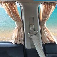 Aluminum Car Window  Shrinkable Windowshade Curtain Car Side Window Sunshades UV Protection 50S/L Auto Rear Windshield Sun Block