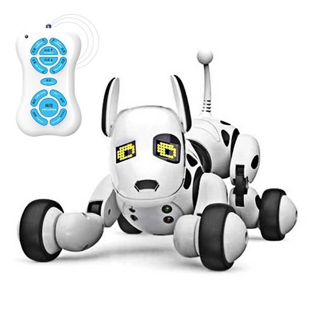 Hipac Remote Control Smart Robot Dog Programable 2.4G Wireless Kids Toy Intelligent Talking Robot Dog Electronic Pet kid Gift