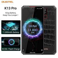 OUKITEL K13 Pro Android 9.0 Mobile Phone 6.41 19.5:9 Screen MT6762 4G RAM 64G ROM 5V/6A 11000mAh OTA NFC Fingerprint Smartphone