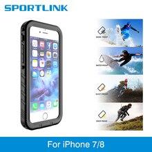 IPhone 7 için su geçirmez kılıf iPhone 8 darbeye dayanıklı yüzme dalış kar geçirmez kapak iPhone 7 8 sualtı koruyucu kılıf