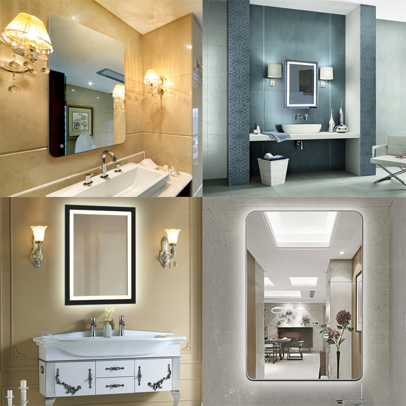 Bath Led Mirrors Light Makeup Mirror Lights Bathroom Mirrors 17 Sizes Rectangle Lighted Vanity Mirror Wall Mounted France Hwc Super Offer 2021f5 Cicig