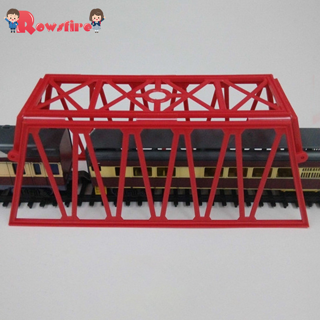 1:87 HO Scale Railway Scene Decoration Bridge Network Model For Sand Table Building - Red