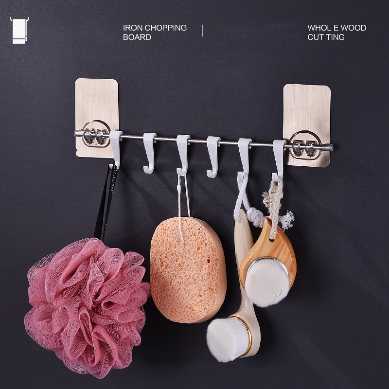 Storage paste stainless steel clothes hook wall hanging suction cup plastic vacuum thickening garage bathroom transparent hook