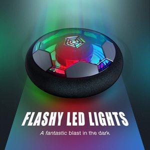 Image 5 - אוויר כוח רחף כדורגל כדור מקורה כדורגל צעצוע צבעוני מוסיקה אור מהבהב כדור צעצועי ילדים ספורט משחקים של ילד חינוכיים מתנה